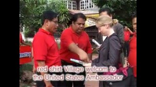 Red Shirt Village welcome  the United States Ambassador