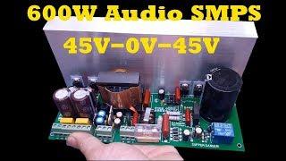 600W Audio SMPS 45V 0V 45V Winding Transformers Detail