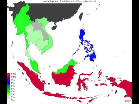 South East Asia - Unemployment, Total - Timelapse