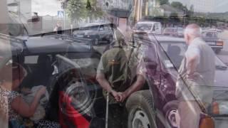 ДТП в Василькове возле отделения полиции и мэрии 9 июля 2016г.