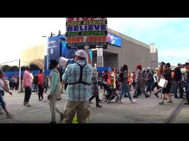 Super Bowl LIII Street Preaching - Day Before the Game - Atlanta - Kerrigan Skelly