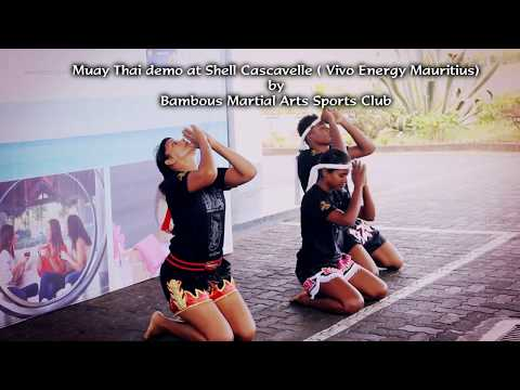 Muay Thai Demo at Shell Cascavelle (Vivo Energy Mauritius)  BMA Sports Team