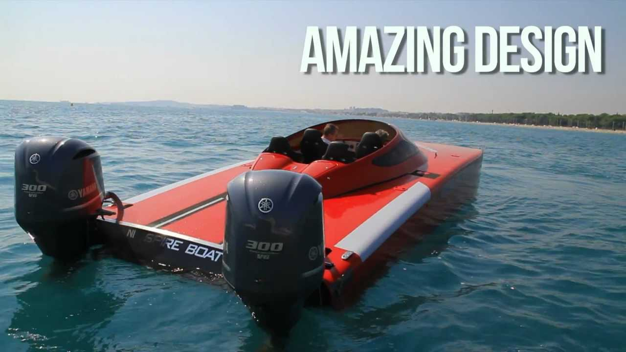 Amazing boat spireboat 2x 300 hp youtube for Buy bass boat without motor