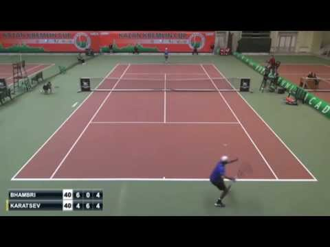 29-shot rally! Karatsev vs Bhambri at ATP Challenger Kazan semis. Аслан Карацев, полуфинал в Казани