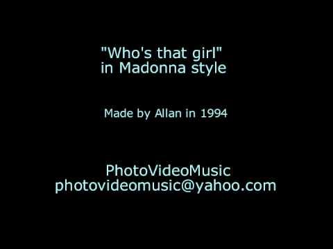 Madonna Who's that girl karaoke