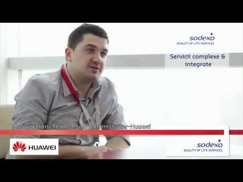 Testimonial al companiei Huawei despre utilizarea serviciilor companiei Sodexo