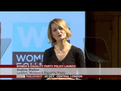 20 October 2015: BBC Parliament - the launch of the Women's Equality Party's policy document