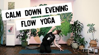 CALM DOWN EVENING YOGA FLOW | 30 Min Yoga mit Michi | Gentle Yoga