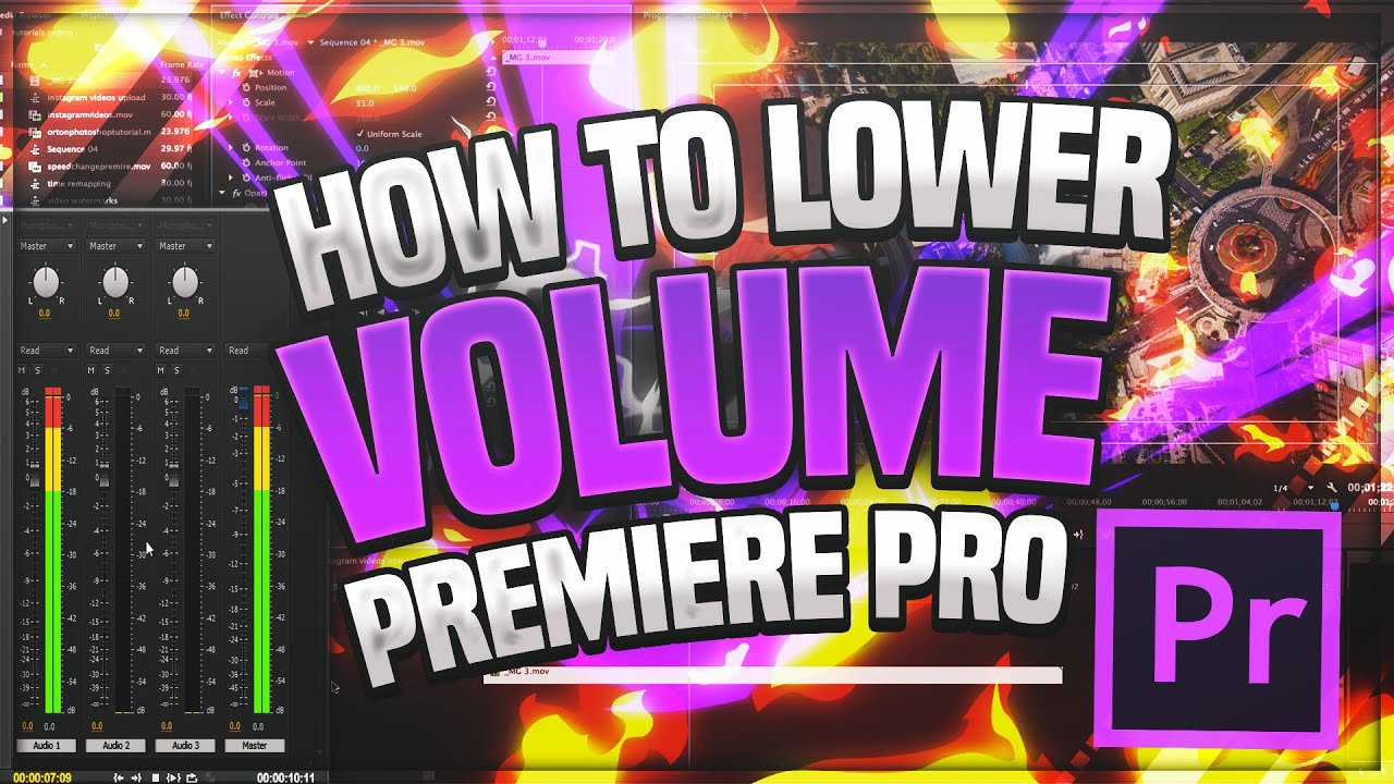 🎬 How to Lower Volume - Premiere Pro CC