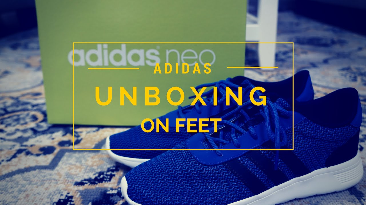 adidas neo lite racer unboxing   in piedi su youtube