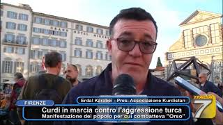 """Curdi in marcia contro l'aggressione turca - Manifestazione del popolo per cui combatteva """"Orso"""""""