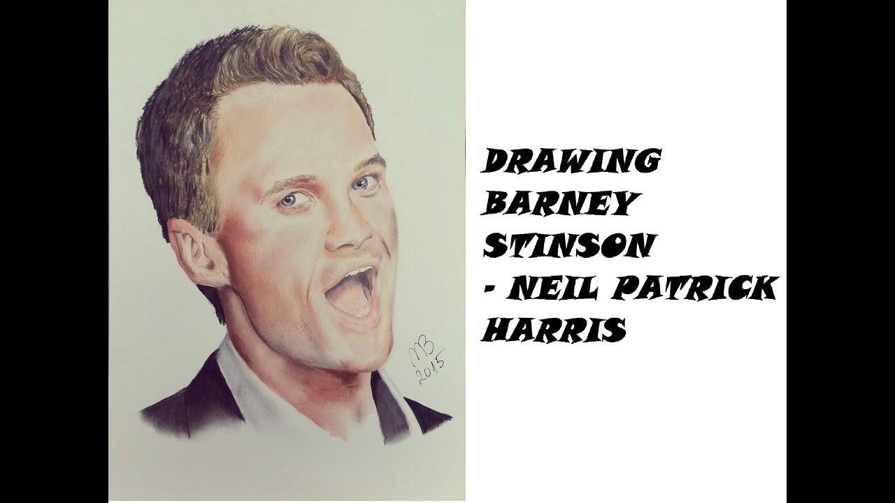 Drawing Barney Stinson Neil Patrick Harris Mb91 Drawing Youtube