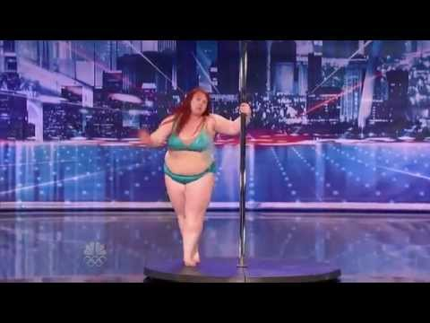 Big Girl Lulu Trying To Work The Pole On America's Got Talent! #1