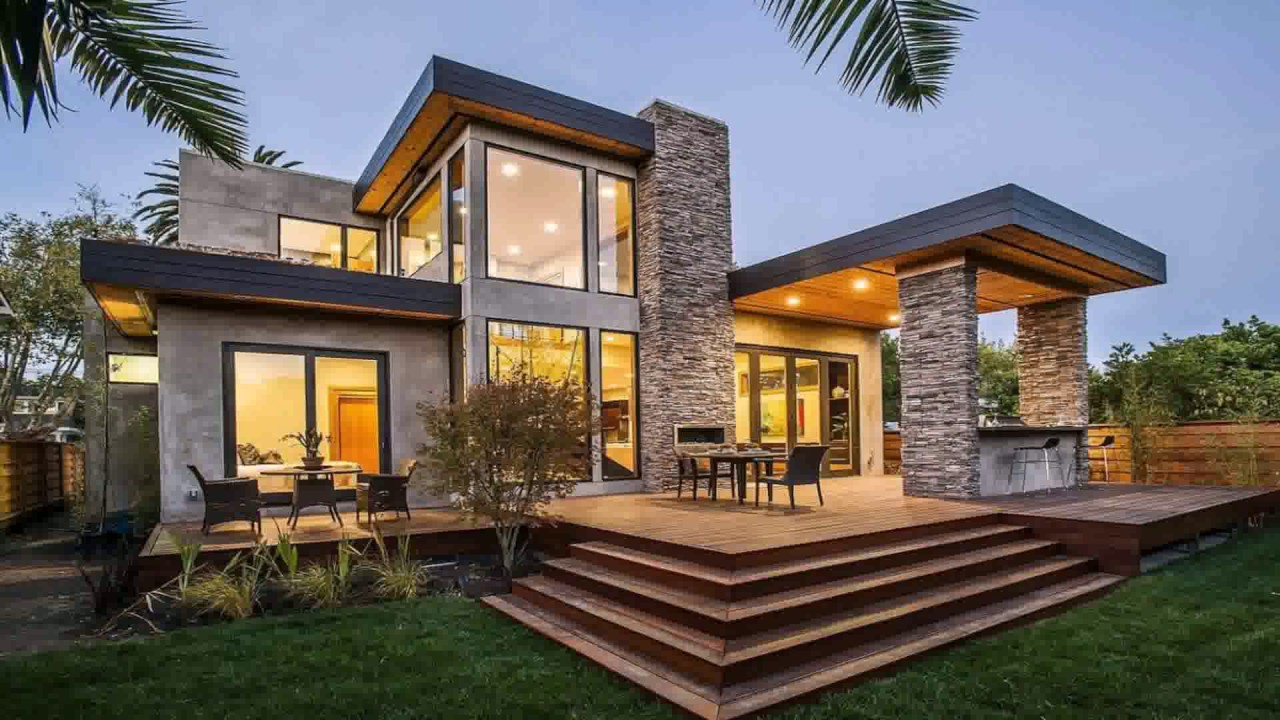 Modern roman style house youtube Architect modern zen type house