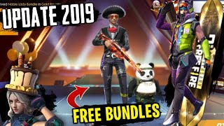 FREEFIRE- NEW EVENTS GET FREE BUNDLES AND ITEMS CHECK OUT!! & UPDATE REVIEW!!