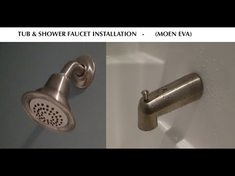 How to Install a Tub and Shower Faucet - Moen Eva - YouTube