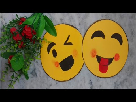 How to make emojis with paper// world emoji day