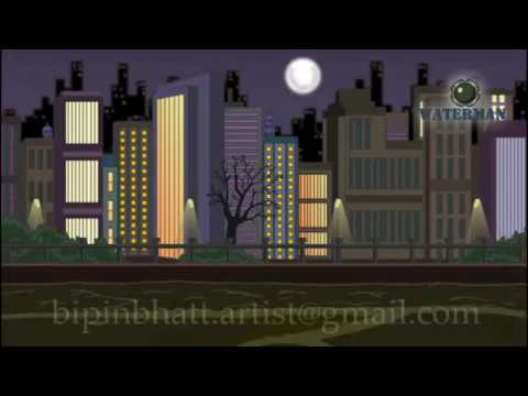 New Superhero waterman animation 2