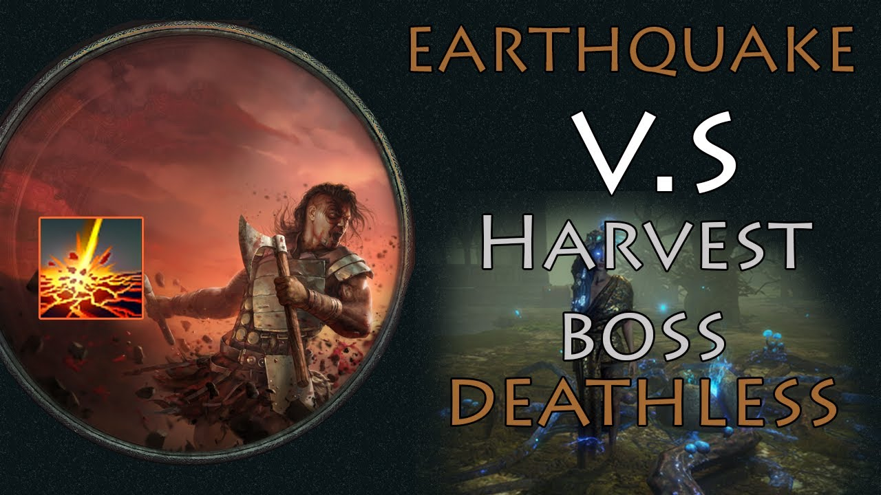 [ Build ] 3.11 Earthquake Double Warcry Zerker vs Harvest Boss (Deathless)