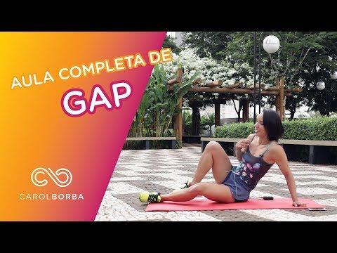 Aula completa de Gap - Glúteo, abdômen e pernas - Carol Borba