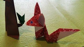 Observant little fox | Origami tutorial for beginners