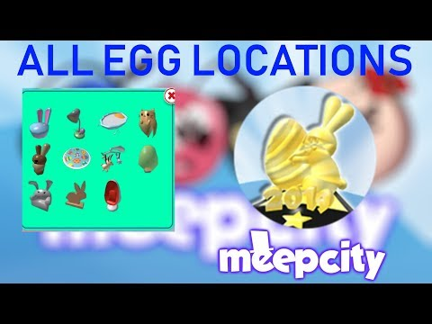 How To Find All Eggs In Roblox Meepcity Egg Hunt 2019 Youtube