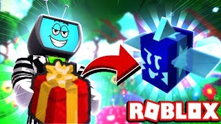 Giving A Present To The Gifted Bucko Bee His FREE Gift Is Amazing | Roblox Bee Swarm Simulator