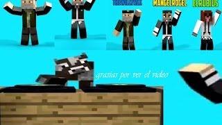animasion El Rubius  MangelRogel y Willyrex Bailando Dubstep Minecraft
