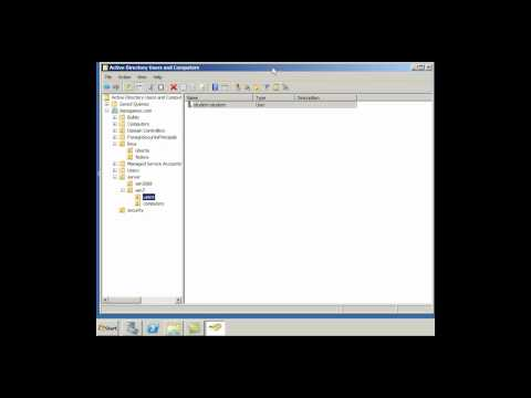 Create Users And Computers In Active Directory - Server2008