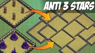 "NEW ""WIZARD+TESLA FARM"" ANTI 3 STAR WAR BASE! - ANTI VALKYRIES, ANTI GOHO - Clash Of Clans"