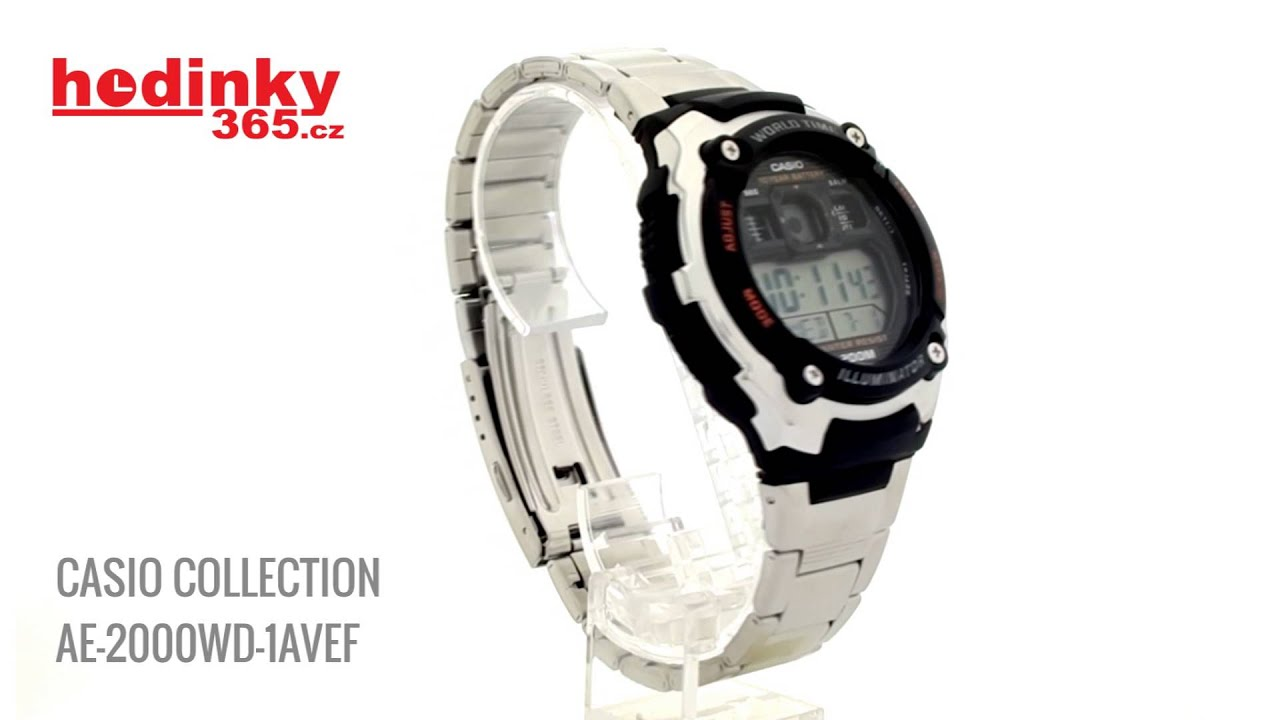 Casio Collection AE-2000WD-1AVEF - YouTube ba293a60b8b