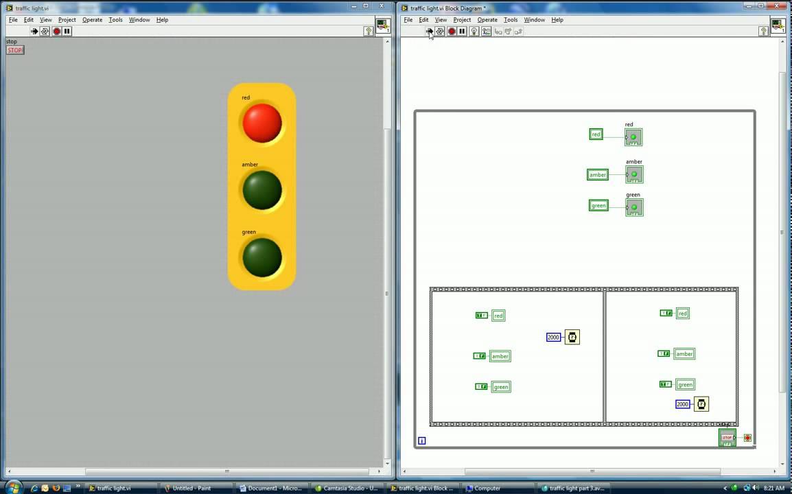 semaforo en labview