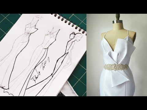 MAKING A WEDDING DRESS | EVENING GOWN | HOW TO SEW A DRESS. http://bit.ly/2wu7b9S