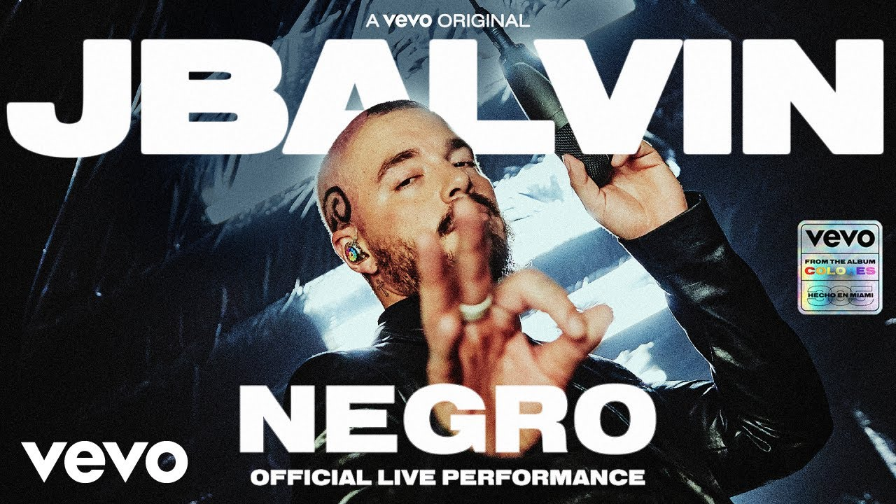 J. Balvin - Negro (Official Live Performance | Vevo)