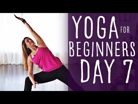 15 Minute Yoga For Beginners 30 Day Challenge Day 7  | Fightmaster Yog…