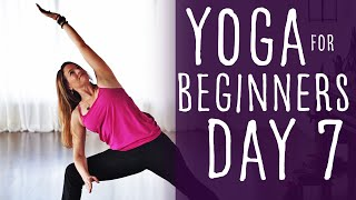 16 Minute Yoga For Beginners 30 Day Challenge Day 7 With Fightmaster Yoga