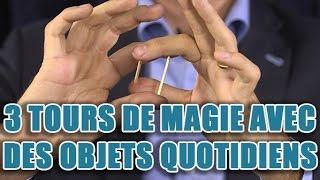 3 tours de magie avec des allumettes, un coton-tige et du ruban adhésif