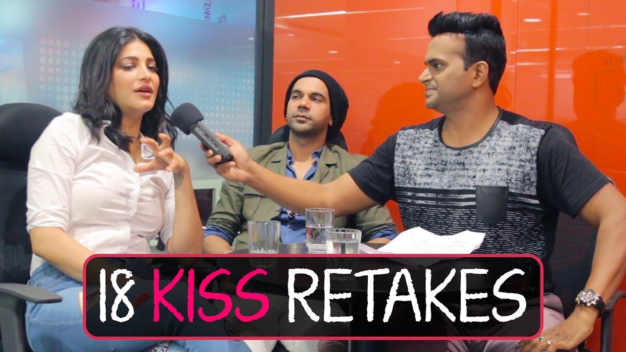Download 18 Kiss Retakes for Film Behen Hogi Teri?! | Shruti Hassan and Rajkumar Rao