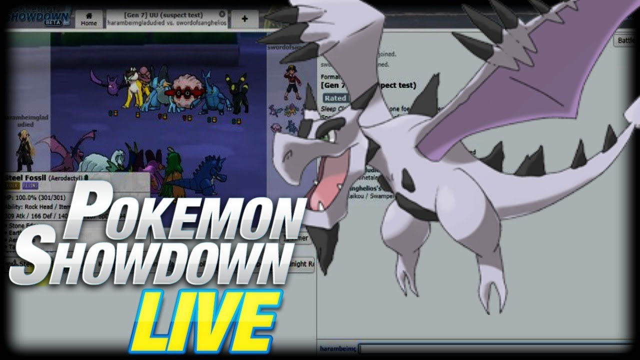 mega aerodactyl destroys pokemon showdown uu live youtube