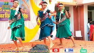 छत्तीसगढ़ी गीत डारि रे डारि पर नृत्य करते लोहारा काॅलेज की लड़कियां/lohara college annual function