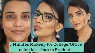 7 MINUTES MAKEUP ROUTINE FOR OFFICE/COLLEGE GOING FEMALES | USING  9 PRODUCTS | BEGINNERS MAKEUP KIT