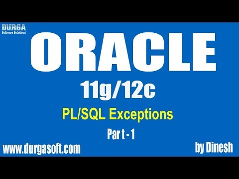Oracle || PL/SQL Exceptions  Part - 1 by dinesh