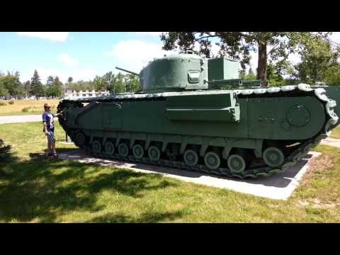 Various tanks from CFB Borden Museum