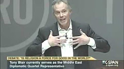Christopher Hitchens vs Tony Blair Debate  Is Religion A Force For Good In The World