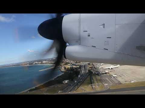 QantasLink Bombardier Dash 8 Takeoff - Sydney (QF 1473)