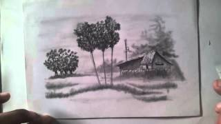 Learn To Draw Cambodia View, Drawing View, Paint a Landscape