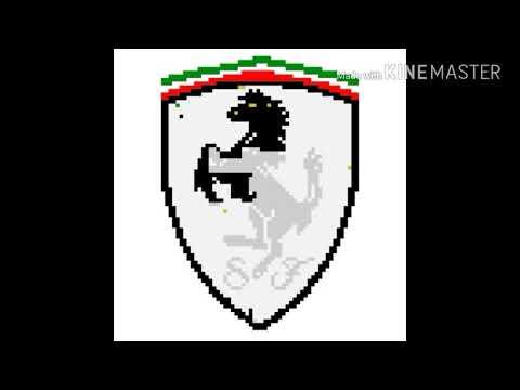 Pixelart Ep 2 Ferrari Pixel Youtube