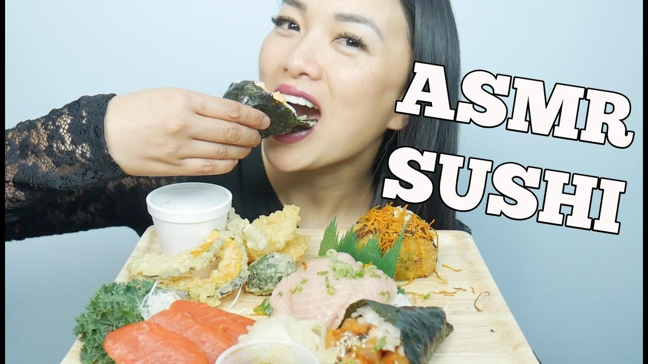 Asmr Sushi Cone Sashimi Veggie Tempura Eating Sounds Sas Asmr Youtube Reacting to asmrtists' most popular video face reveal prank many of you asked me to make a face reveal video. asmr sushi cone sashimi veggie tempura eating sounds sas asmr
