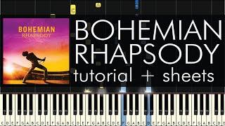 Queen - Bohemian Rhapsody - Piano Tutorial - Synthesia + Sheets