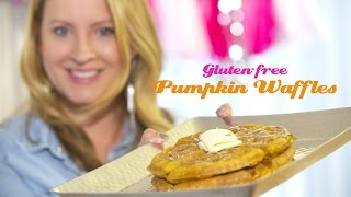 Cooking With A Toddler | Gluten-free Pumpkin Waffles
